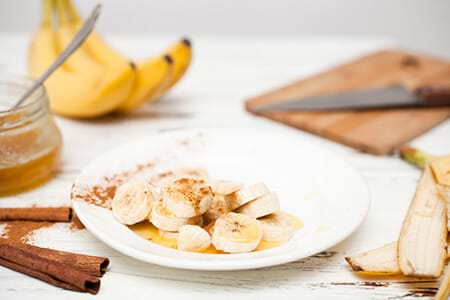 bananas and honey as natural sweeteners