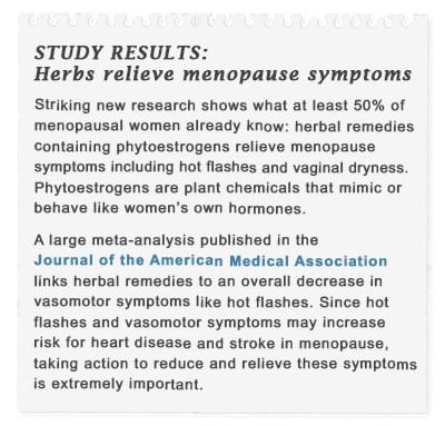 Study: herbs relieve menopause symptoms