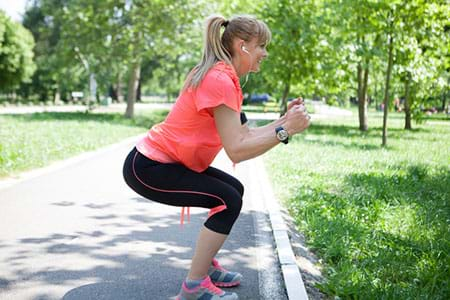 Woman doing squat exercises