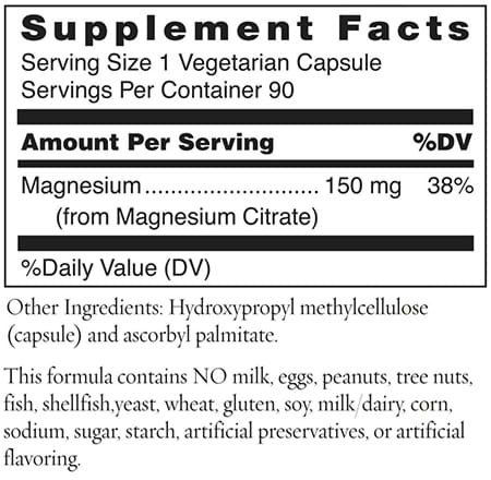 Magnesium Citrate Ingredients