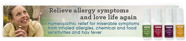 Homeopathic allergy relief sprays